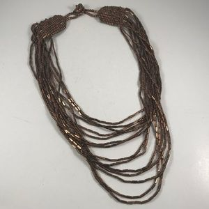 Vintage Multistrand Copper Necklace